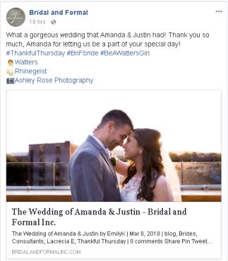 B&F Facebook Feature
