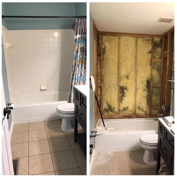 bathroom side by side